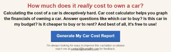 Car Cost Calculator Interface