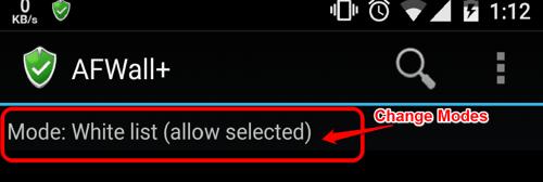 Change the List Mode