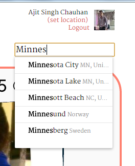 Changing Location