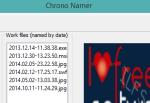 Chrono Namer- batch rename files using files metadata