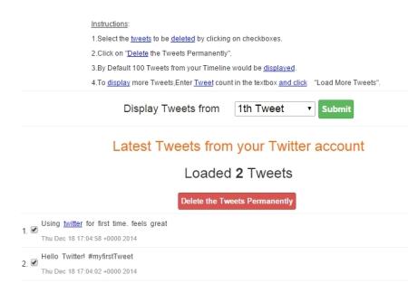 delete old tweets