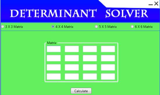 Determinant Solver Interface