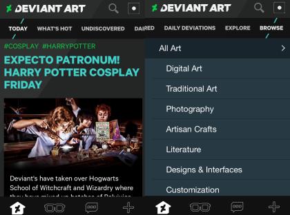DeviantArt Interface