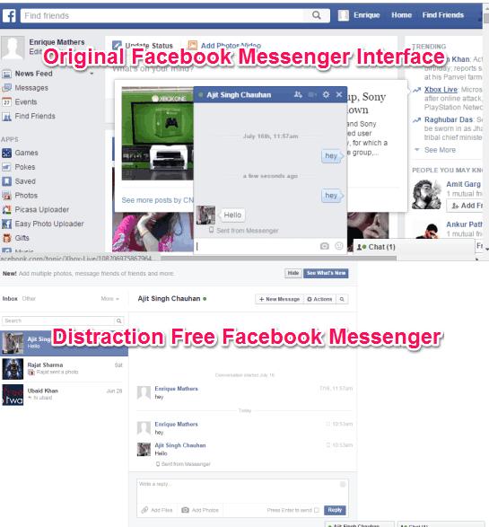 Distraction Free Facebook Messenger
