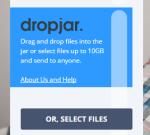 Dropjar- share large files in bulk