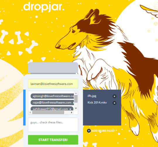 Dropjar- share large files up to 10 GB for free without sign up