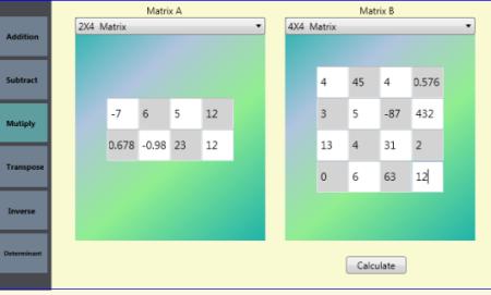 Enter Both Matrixes