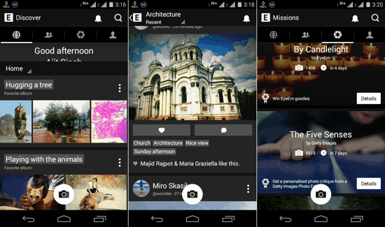 EyeEm for Android screenshots