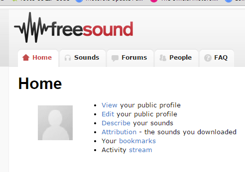 Freesound Interface