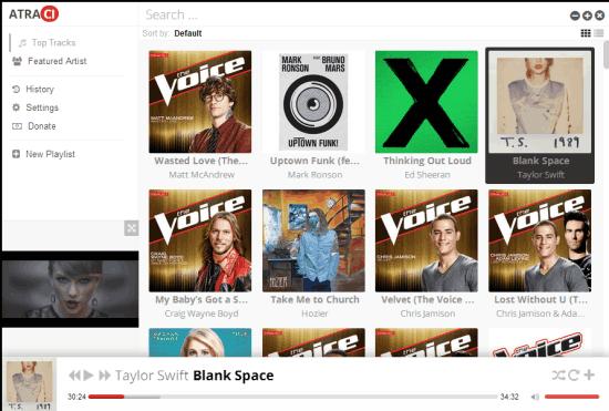 Listening to Songs on Atraci