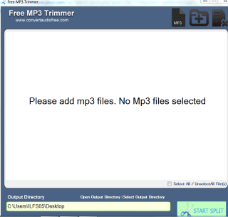 MP3 Trimmer Interface