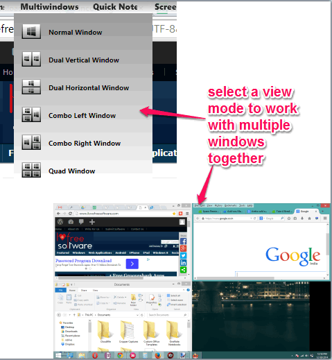 Multiwindows tool