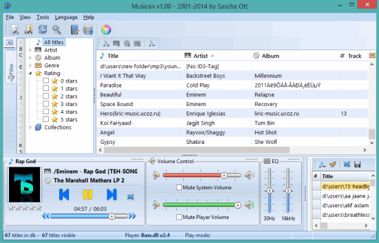 Musican- free mp3 music player and organizer