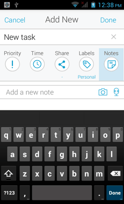 Notes in 24Me for Android