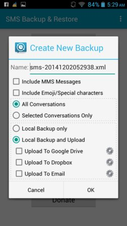 SMS backup apps android 2