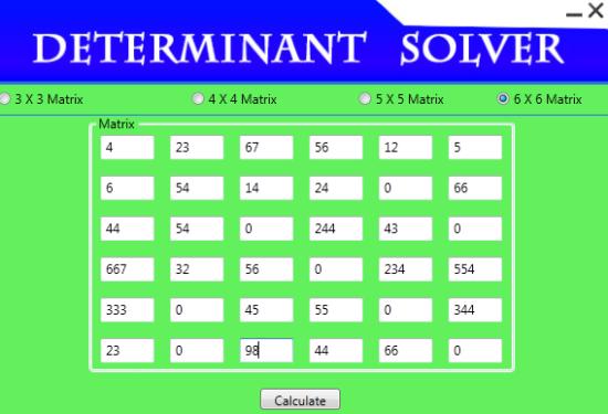 Solving Determinant