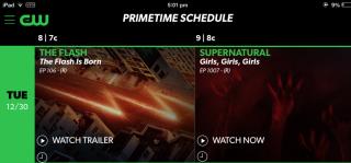 The CW App Schedule