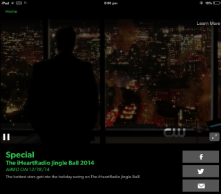 The CW Video Playback Interface