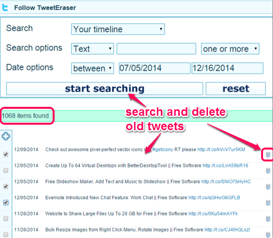 TweetEraser- Find old tweets and delete them