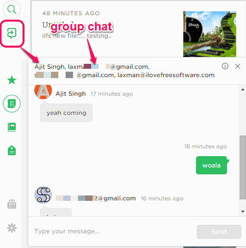 Work Chat- new feature introduced by Evernote