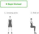 Workouts- free online 7 minutes workout website