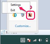 access Settings option