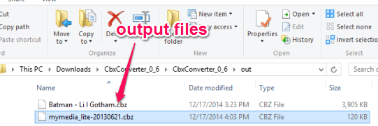 access output files