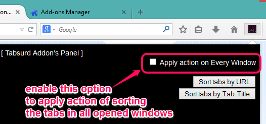 apply sorting on all opened windows