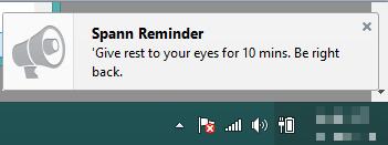 break reminder pop up