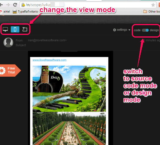 change view mode and check source code