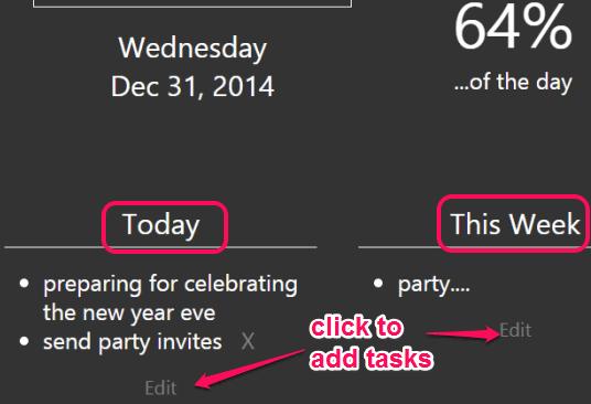 click Edit option to add tasks