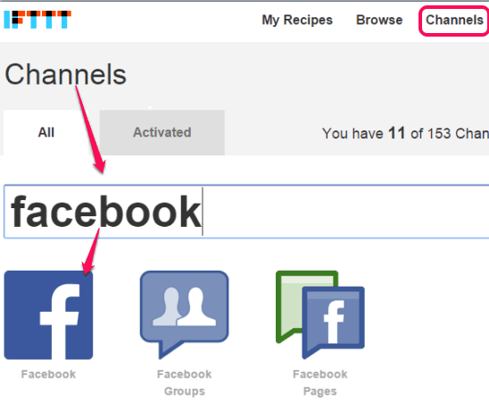 connect your Facebook and Dropbox accounts