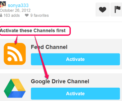 connect your Pinterest and Google Drive account with IFTTT