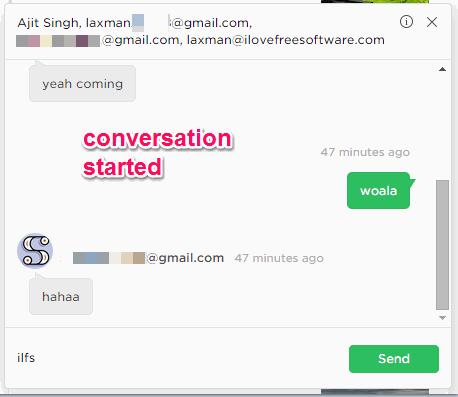 conversation started