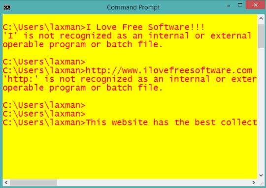 customized Windows command prompt