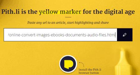 enter webpage URL to start highlighting text