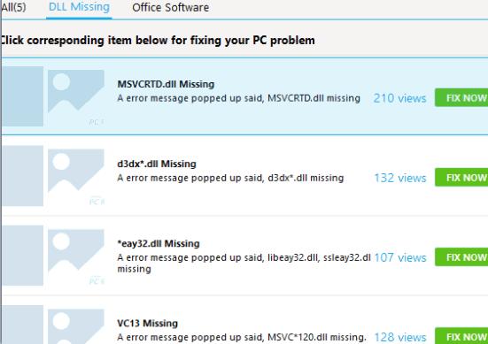 fix missing dll issues
