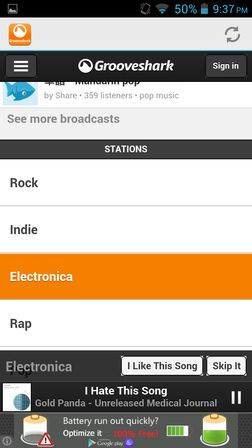 grooveshark apps Android 2