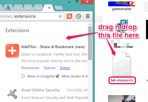install crx file on Google Chrome