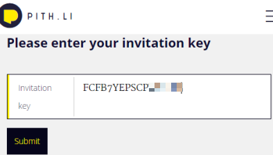 invitation key