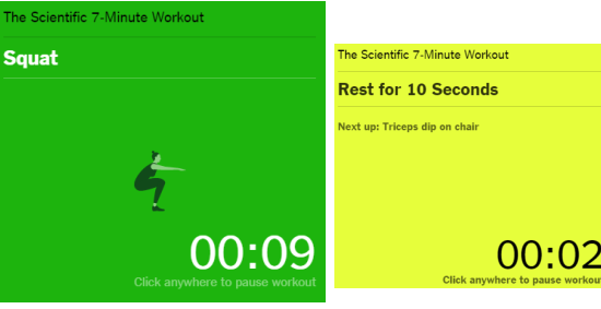perform the exercise and take rest to get prepare for the next exercise