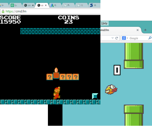 play mario and flappybird without interrupting the music