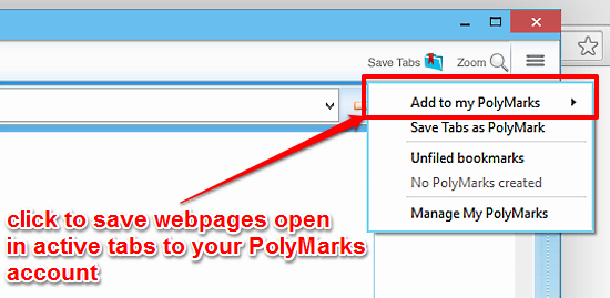 polybrowser save tabs