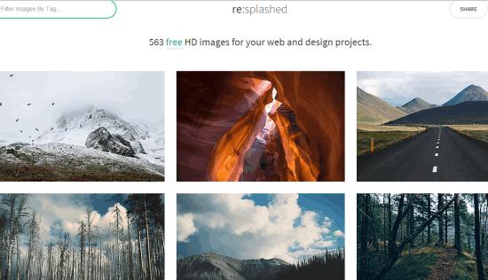 resplashed homepage