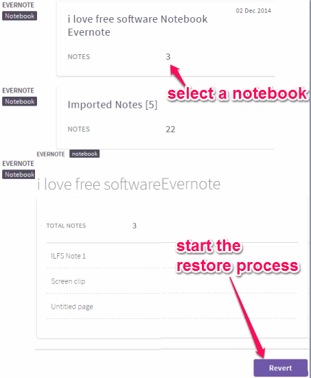 restore Evernote backup