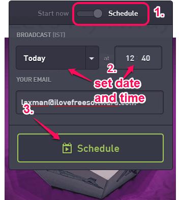 schedule your presentation