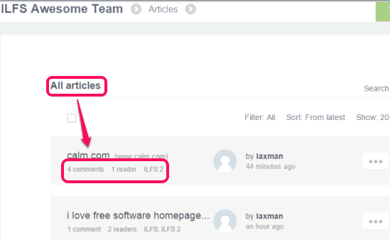 share links online with team