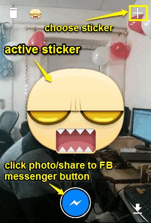 stickered main ui