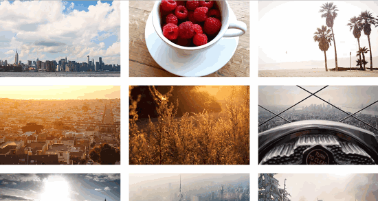 thumbnails of creative commons photos
