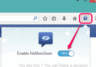 turn on NoMoreSeen button